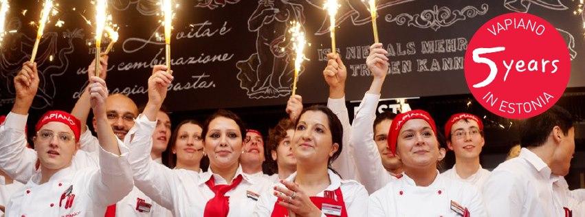 Viieaastaseks saav Vapiano on Tallinnas müünud 2,5 miljonit pastarooga