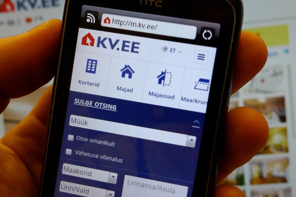 m.kv.ee on Eesti esimene mobiilne kinnisvaraportaal