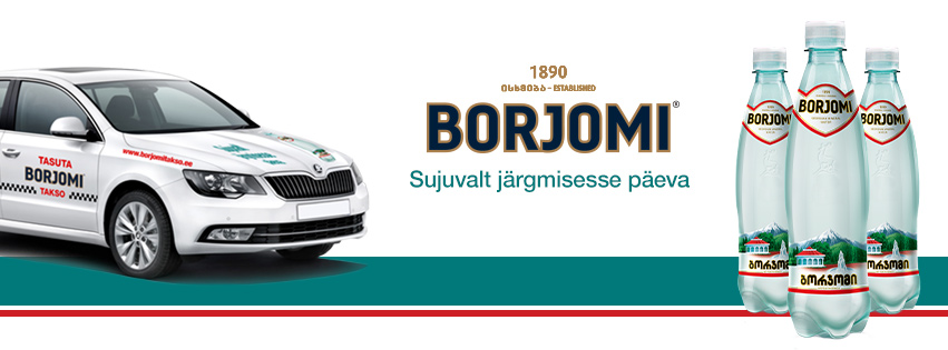 Borjomi Eesti fännid sõidavad Tallinnas taksoga tasuta2