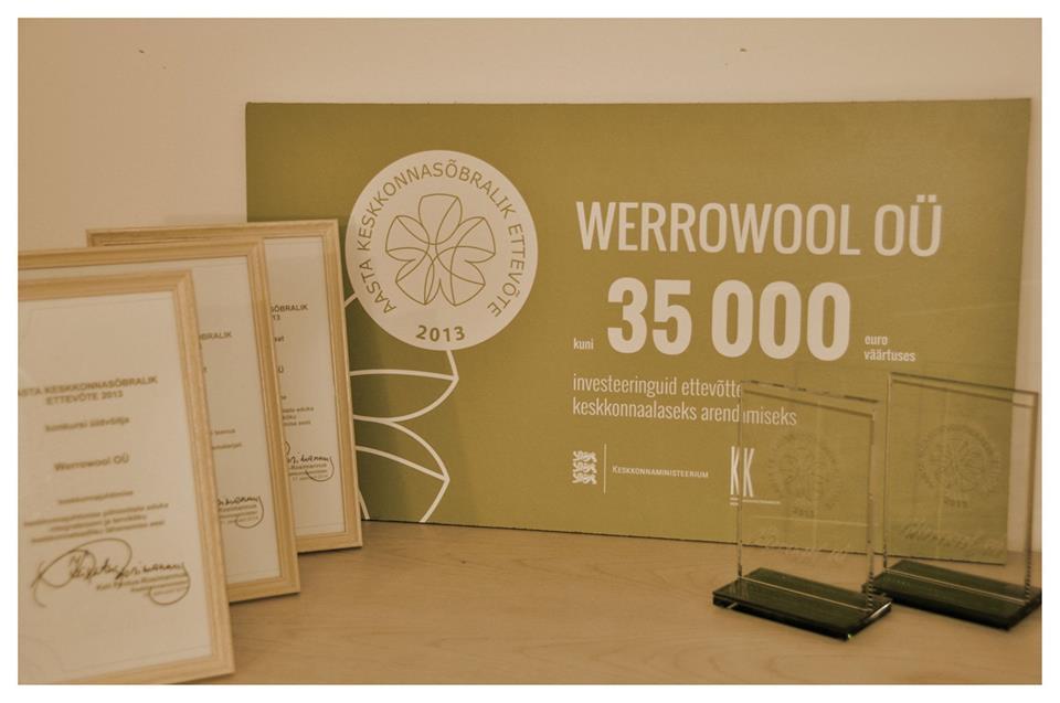 Keskkonnasõbralikud firmad on Werrowool, AusDesign ja Saidafarm