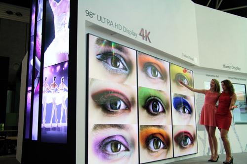 LG esitleb Amsterdamis ULTRA HD ekraanidega reklaamtahvleid
