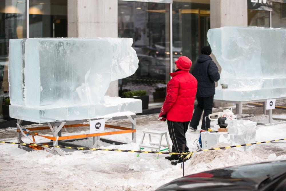 LHV tähistab 15. sünnipäeva jääskulptuuride avamisega