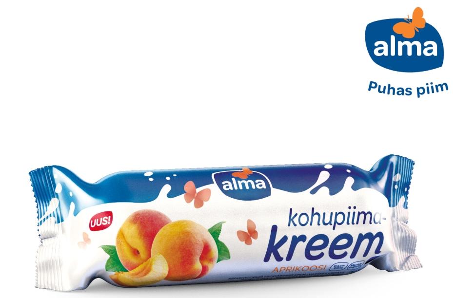 Alma kohupiimakreemide sarja lisandub uue maitsena aprikoos