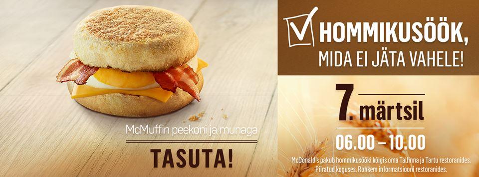 McDonald's pakub reedel tasuta hommikusööki2