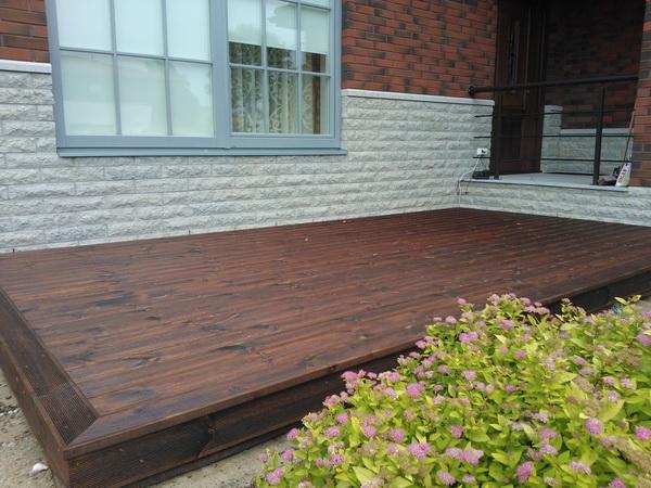 Puukeskuse tootevalikus on loodussõbralik kuumõlitatud terrass