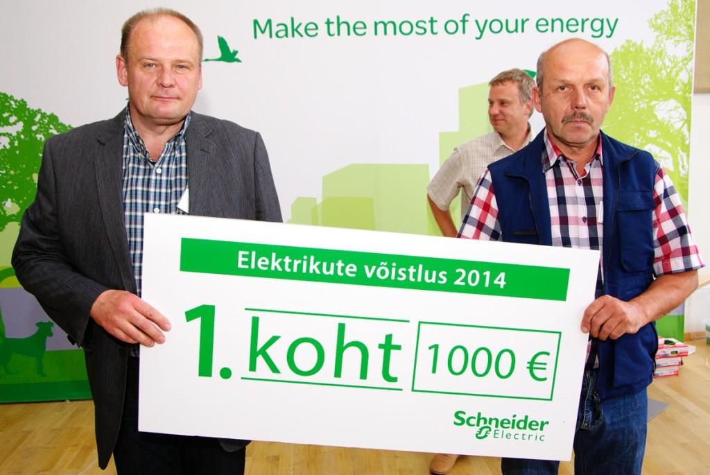 Schneider Electricu elektrikute võistluse võitis Caverion