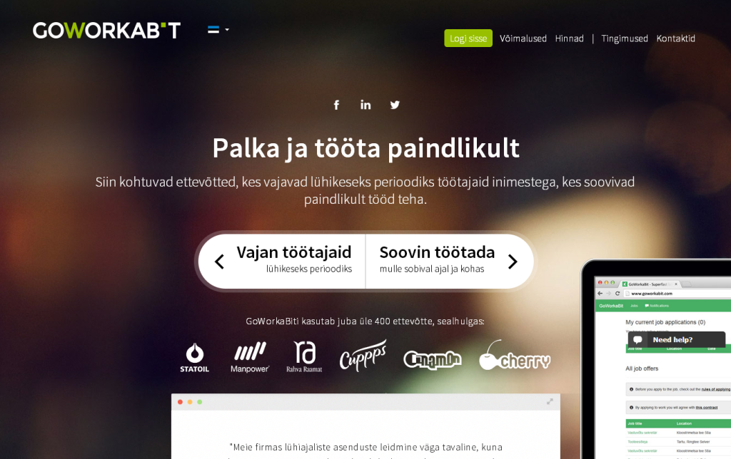 Eestist alguse saanud personalilahendus GoWorkaBit on saadaval ka Soomes