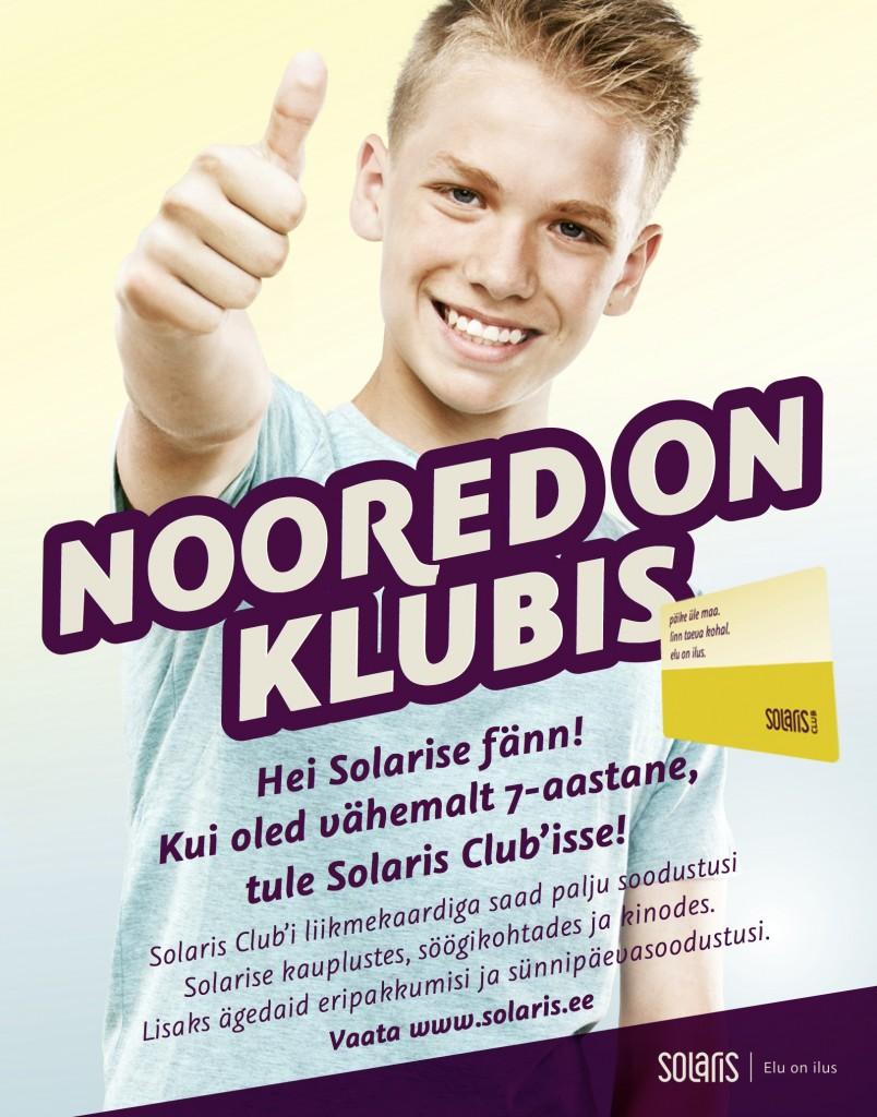 Solaris asus esimesena Eestis pakkuma noortele oma kliendikaarti