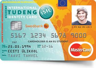 ISIC MasterCard Tudengikaart on uutele tellijatele väljastustasuta