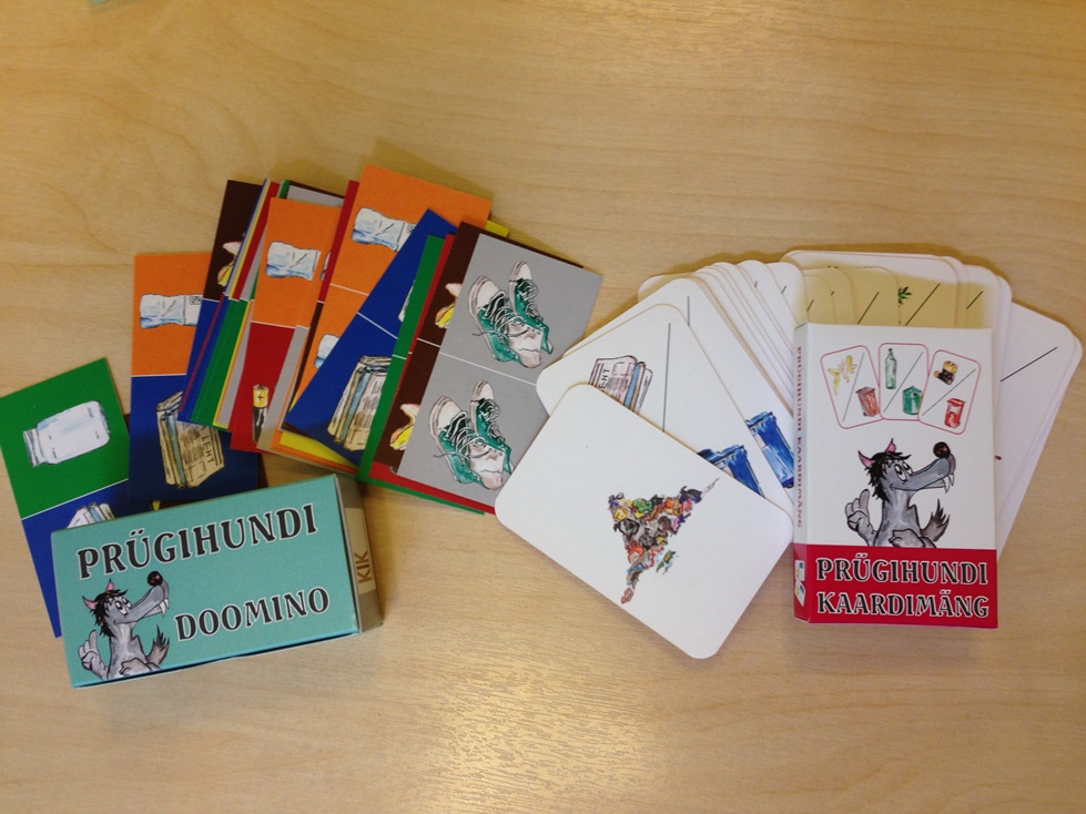 Valmisid jäätmeteemalised Prügihundi kaardi- ja doominomäng