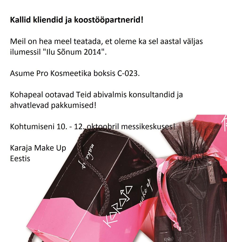 Karaja Make Up esindus rõõmustab ilumessil kliente ja koostööpartnereid