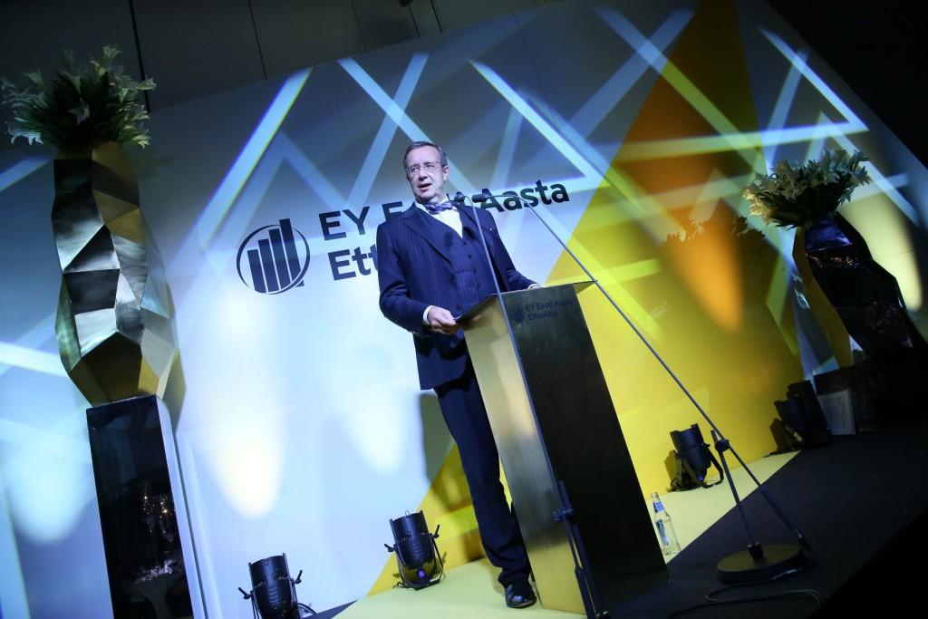 President Toomas Hendrik Ilvese tervitus Aasta Ettevõtja 2014 auhindade galal