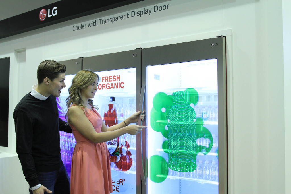 LG Transparent Display Dooler Door