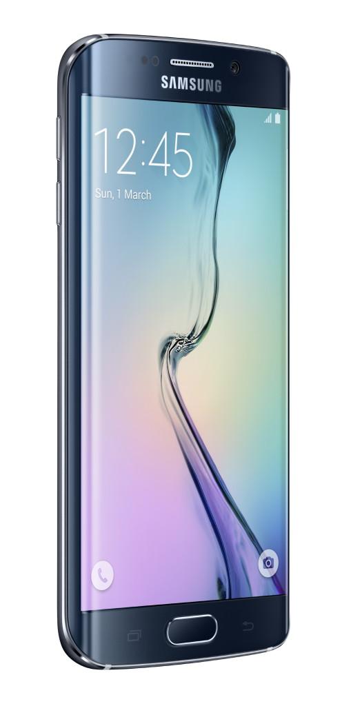Galaxy S6 Edge_Left Front_Black Sapphire