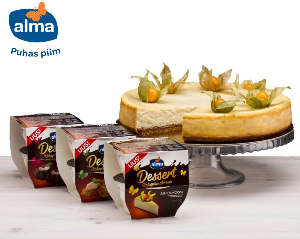 MAITSEV! Aprillist saavad magusasõbrad nautida uut Alma desserdisarja