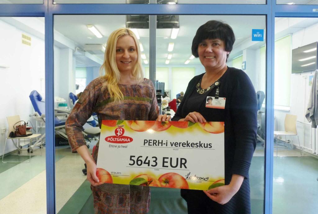 Mahlaostjad toetavad verekeskust ligi 6000 euroga