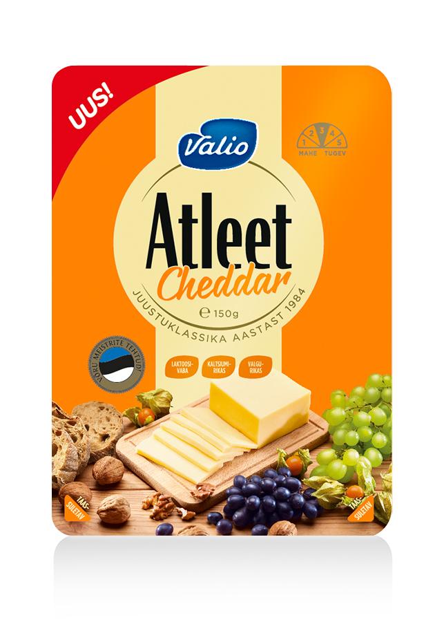 Valio toob Atleet sarjas turule esimese kodumaise Cheddar juustu
