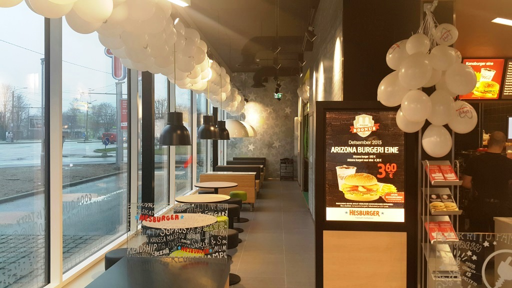 Hesburger avab täna oma 37nda restorani Eestis