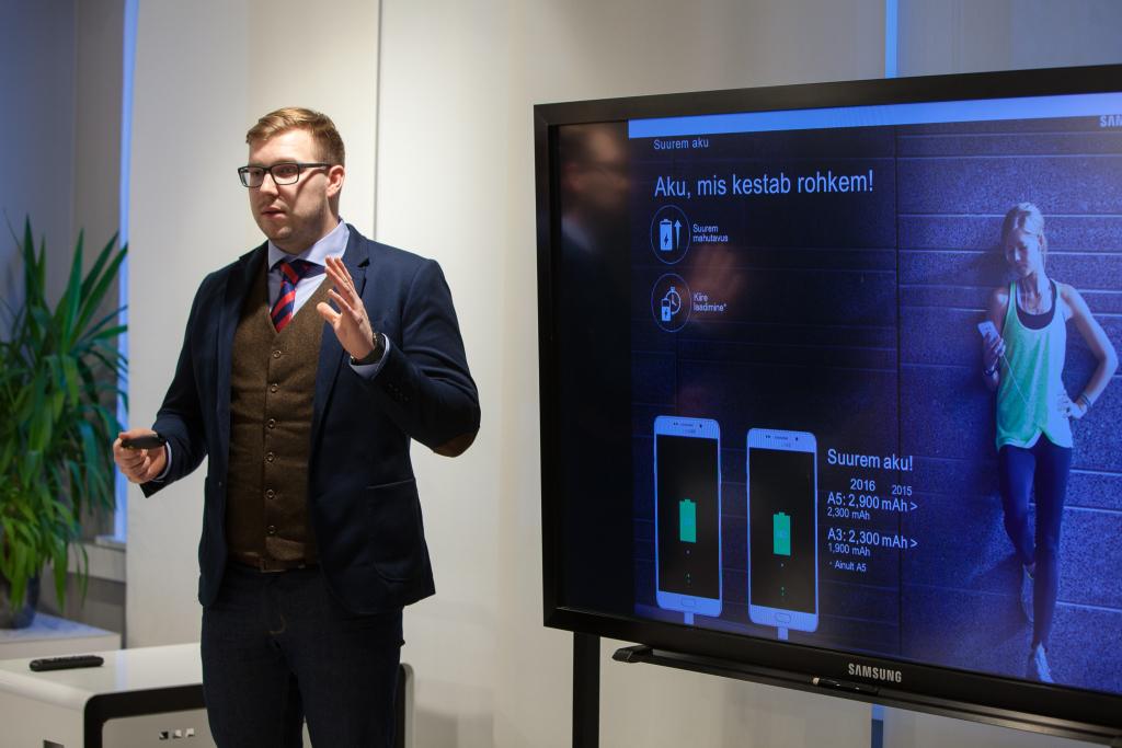 Samsung Eesti tooteekspert Henry Tiitus