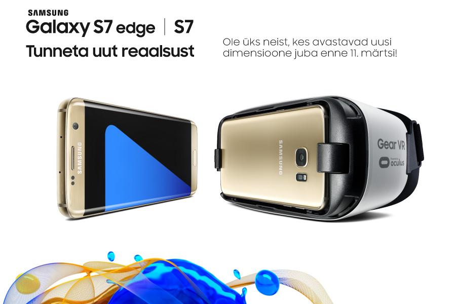 Elisas algab tänasest Samsungi uue tipptelefoni Galaxy S7 ja S7 Edge'i eelmüük
