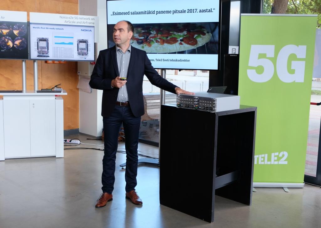 Tele2 juht Argo Virkebau tutvustab 5G-d Foto: Egle Merbach/Tele2