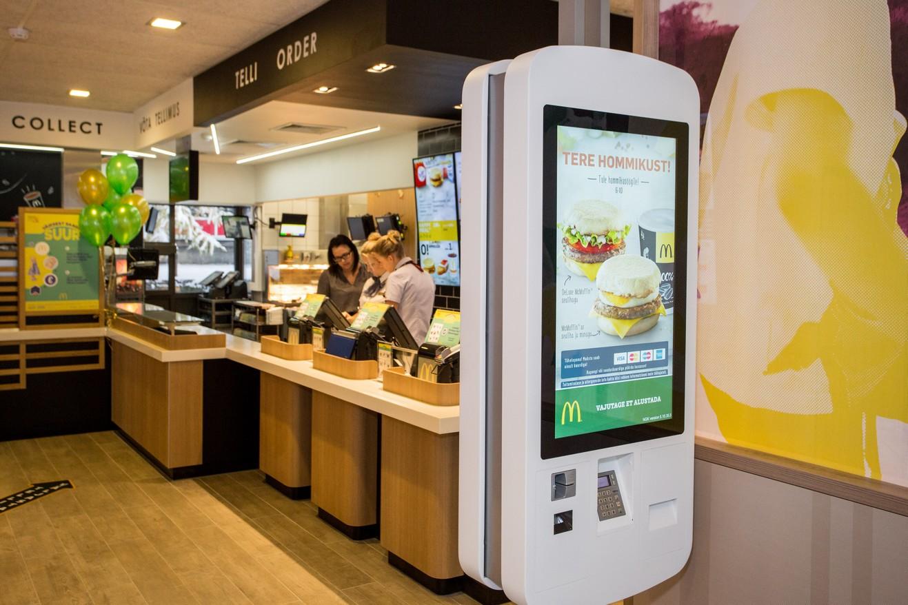 Tänasest saab iseteeninduskassasid kasutada ka Sõle McDonald's restoranis