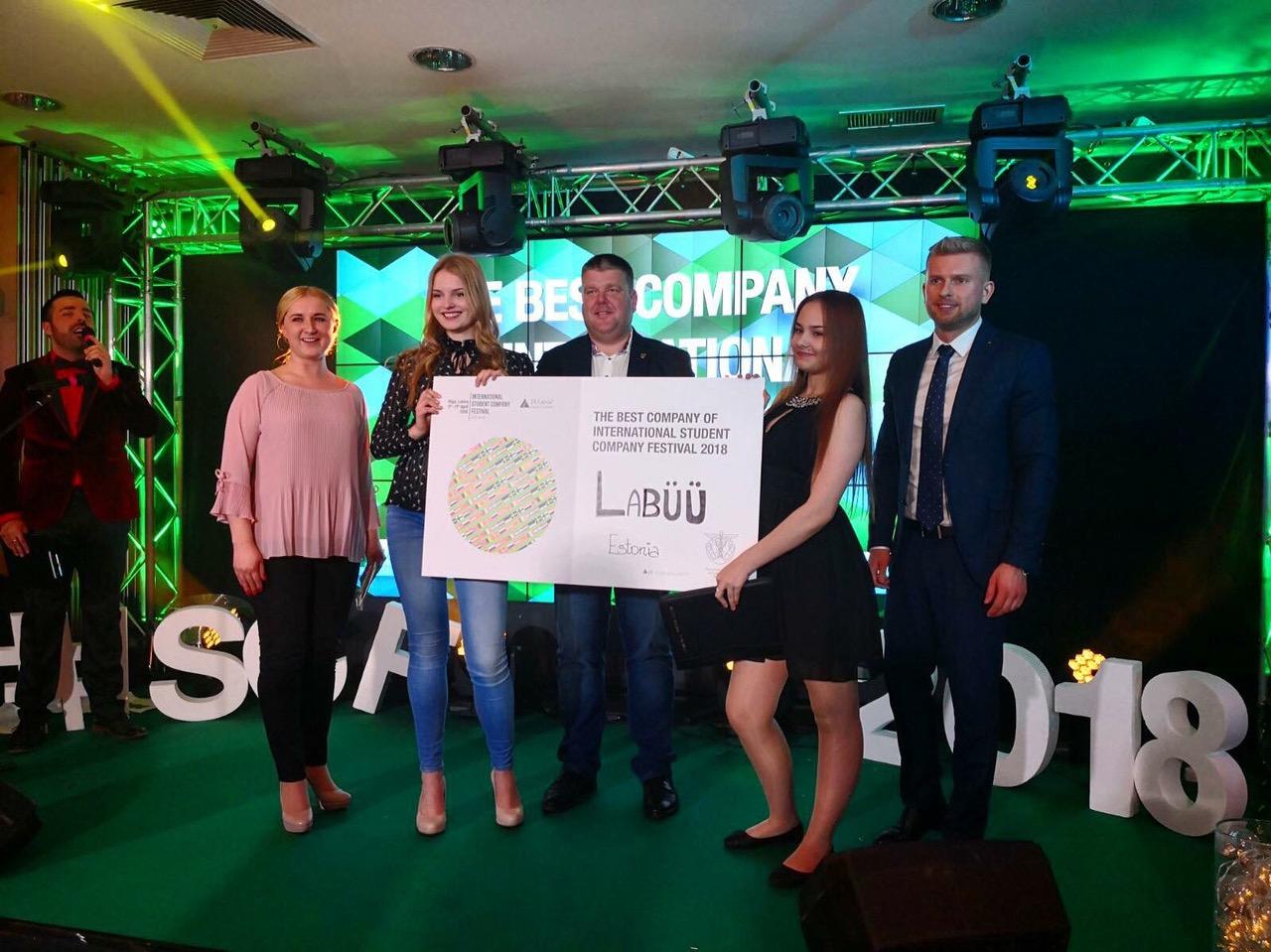 TUNNUSTUS! Eesti õpilasfirma pälvis rahvusvahelise õpilasfirmade festivali kõrgeima auhinna