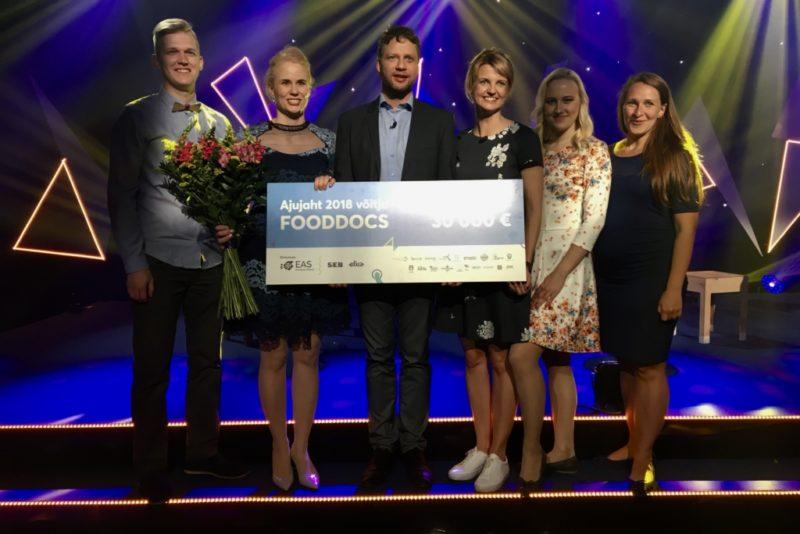 Palju õnne! Ajujahi võitis FoodDocs, kellele väljastati 30 000 euro suurune peaauhind