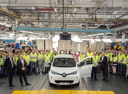 Le 18 millionième véhicule produit à l'usine de Flins est une ZOE