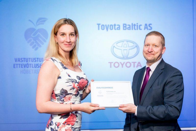 Eesti vastutustundliku autoettevõtte tiitli sai Toyota