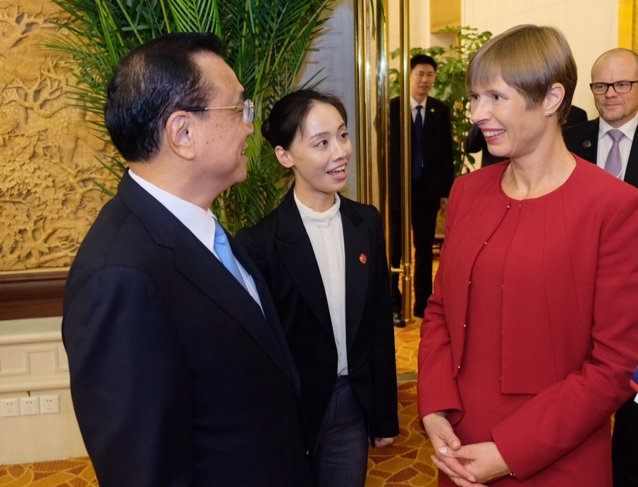 President Kersti Kaljulaid arutas Hiina peaministriga majanduskoostööd