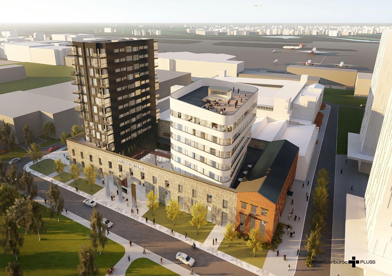 Ülemiste Citysse uute Lurichi majade ehitamist