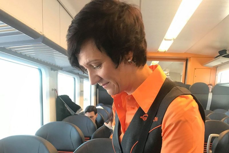 Elroni juht on täna rongis klienditeenindaja ametis