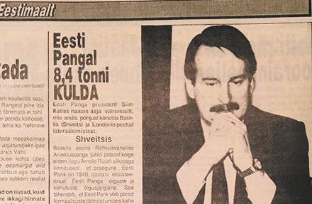 KULD – EESTI AJALOO SUURKUJU I Kuld on Eesti majandusajaloos mänginud olulist rolli