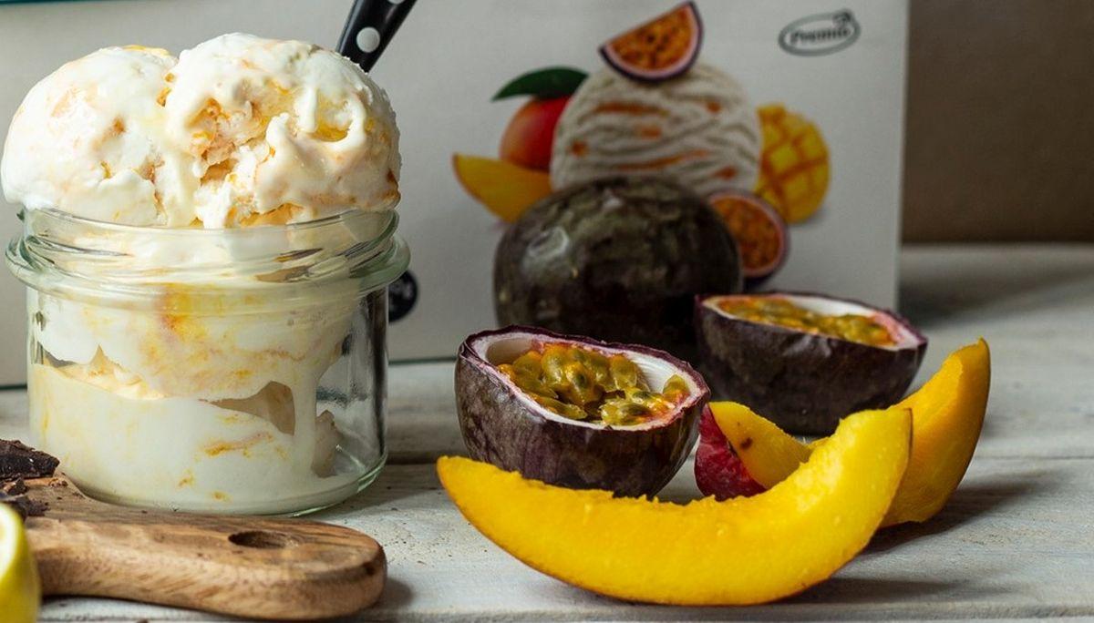 Premia mango-passionvilja jäätis