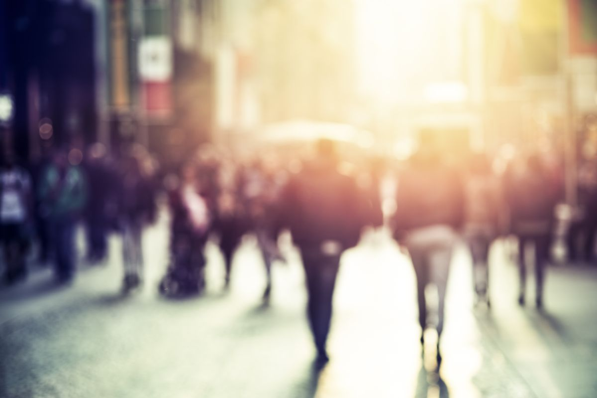 People,Walking,In,The,Street,,Abstract,,Blurry