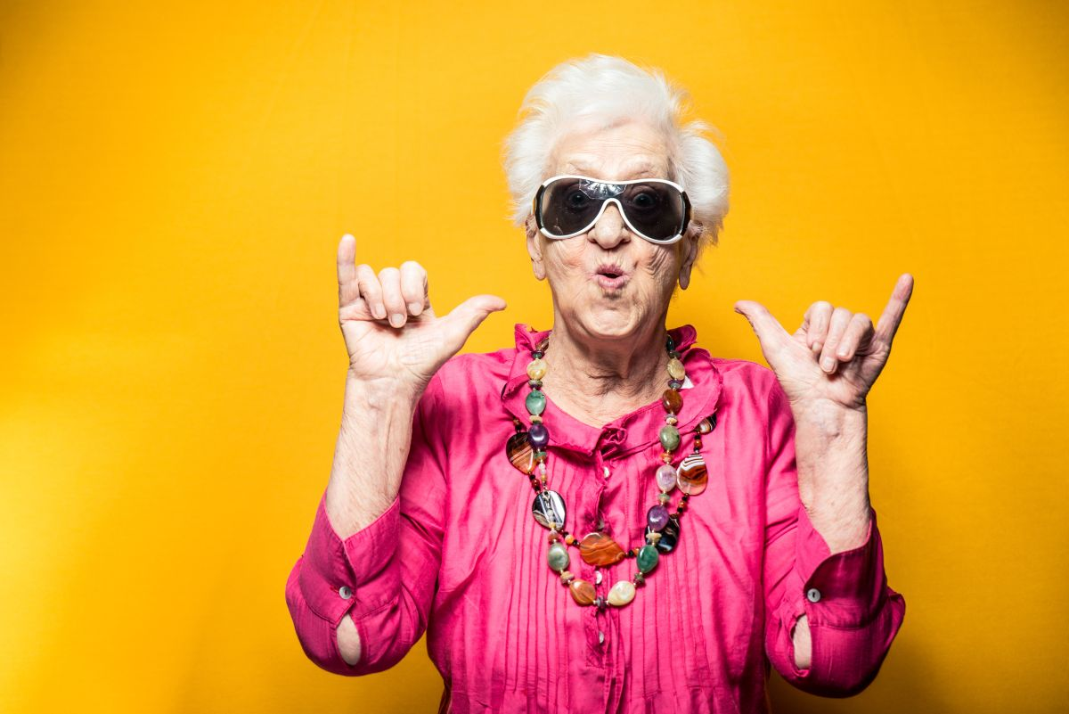 Grandmother,Portrait,Set,In,The,Studio.,Concepts,About,Seniority